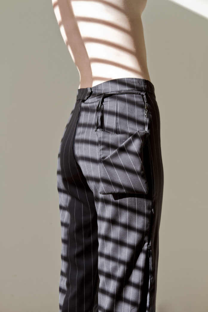 The Split Pant (Pin Stripe)