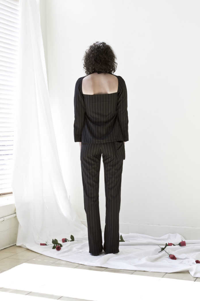 The Split Pant (Pin Stripe)
